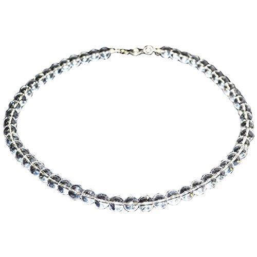 長さが選べる 水晶 ネックレス最高級AAA 8mm 天然石 本物 パワーストーン バレーボール ランナー アスリート 【OMAMORI-DO】
