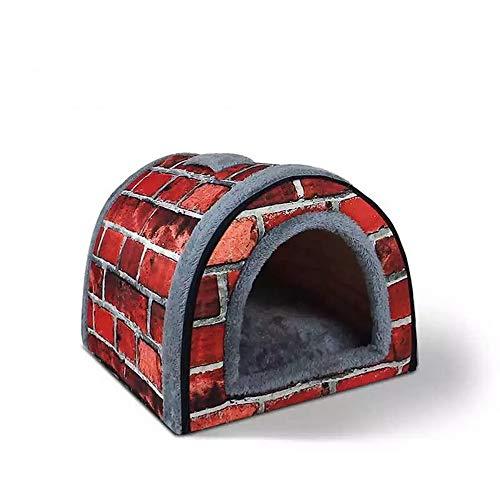 thematys Cueva para Gatos I Cama para Gatos I Casa para Gatos Plegable I Cueva Convertible I Portátil y Resistente a los arañazos (Style 2, S (35 x 28 x 26 cm))