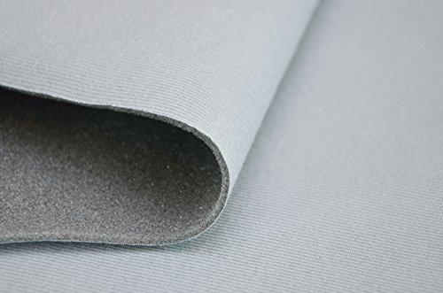 FORTIS Himmelstoff Autostoff Polsterstoff Bezugsstoff kaschiert SAM01 T129 01 Hellgrau