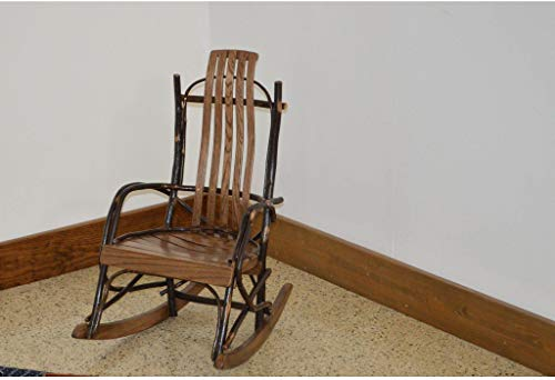 A & L Furniture Co. Amish Bentwood Hickory Child's Rocker - Ships Free in 5-7 Business Days