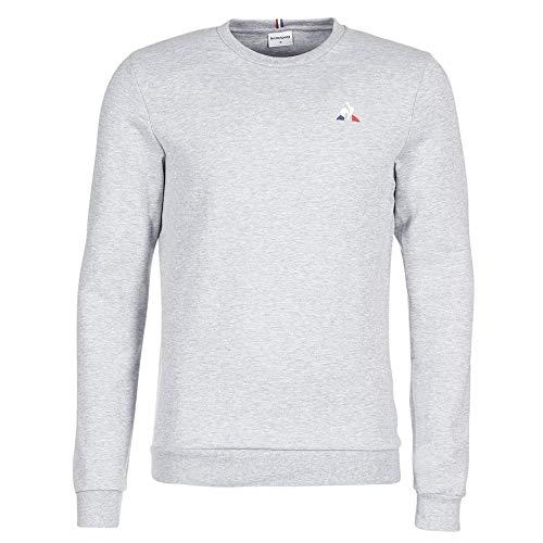 le coq Sportif Ess Crew Sweat N°1 M Gris Chiné Clair Sweatshirt Homme