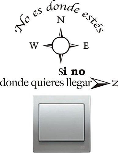 Vinilo decorativo pegatina pared, cristal, puerta (Varios colores a elegir)-frase