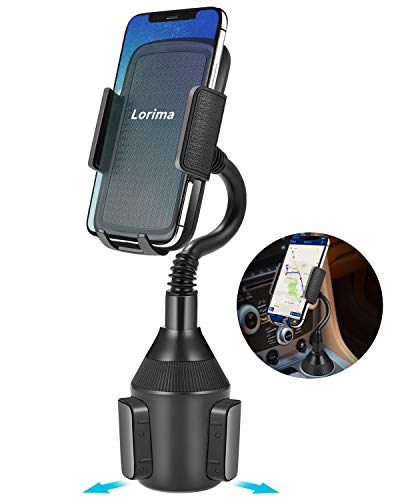 Lorima Car Cup Holder Phone Mount with A Long Flexible Neck for Cell Phones iPhone XS/Max/X/8/7 Plus/Galaxy