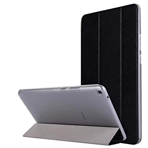 Caja de la Tableta para Huawei Mediéspad T3 8 Funda de Cuero de la Tapa de pie para el Honor Play Pad 2 8 0 Pulgadas KOB-L09 KOB-W09-Negro