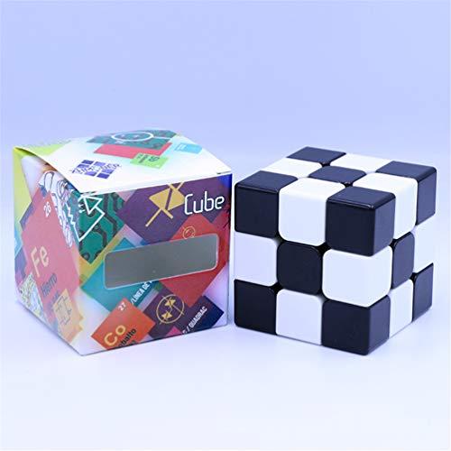 JIARUN 3x3 Rubiks Cube, embrión de luz, Desarrollo de Inteligencia Infantil Blanco y Negro, Placa de Rompecabezas Cubo mágico, Blanco y Negro no Puede arruinar el Cubo de Velocidad