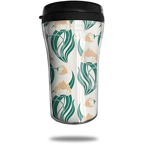 Paquete Taza de café de viaje de coliflor Taza de vacío portátil impresa en 3D, vasos de botella de agua con taza de té aislada para beber con tapa 8.54 oz (250 ml)