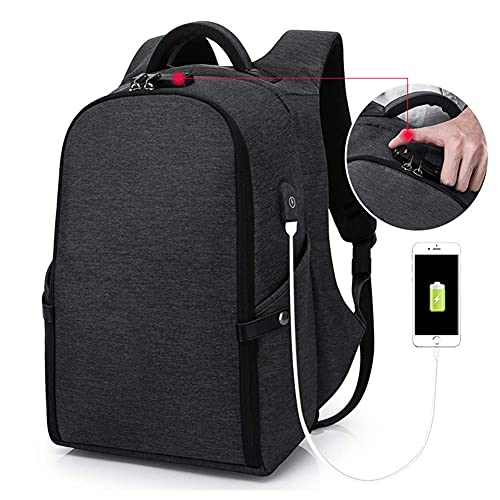 Suytan G&Amp;L Laptop Backpack, Business Anti Theft Waterproof Travel Backpack with USB Charging Port for College Student for Women Men,Fits Under 15.6-Inch Laptop Notebook by,Black,Black