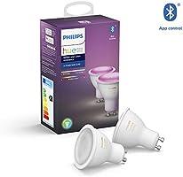 Philips Hue White and Color Ambiance Zestaw, 2x Inteligentny reflektor punktowy LED E27 5,7W GU10, 16 mln kolorów,...