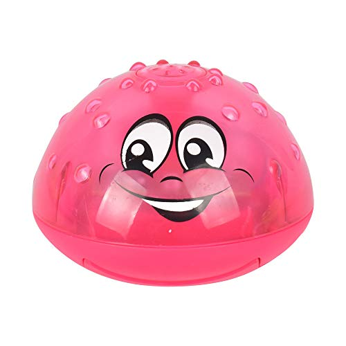 CULASIGN Kinder Wasserspielzeug Schwimmende Badespielzeug Sprinkler Toy Spray Wasser Babys Mit Licht Automatische Induktions Kleinkinder Jungen Mädchen Pool Badewanne (Rot)