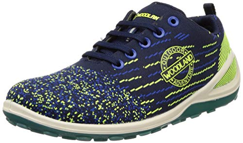 Woodland Men's Leather Sneakers-7 UK (41 EU) (8 US) (GC 2898118_Navy/RBLUE)