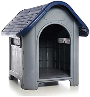 Plastic Dog House-Blue 29.13x22.44x25.98 In by DollarItemDirect