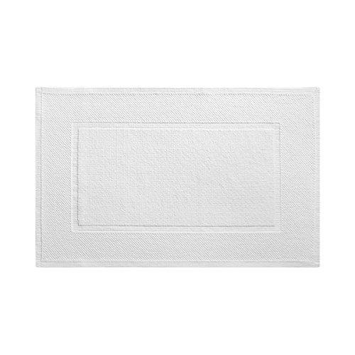 Yves Delorme - Eden Blanc (White) 24 x 35 in Bath Mat - Luxury Bath Mat from France.