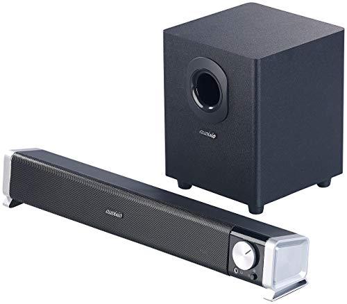 auvisio TV Lautsprecher: 2.1-Soundbar mit externem Subwoofer für PC und TV, Bluetooth, 40 Watt (Zusatzlautsprecher für Fernseher)