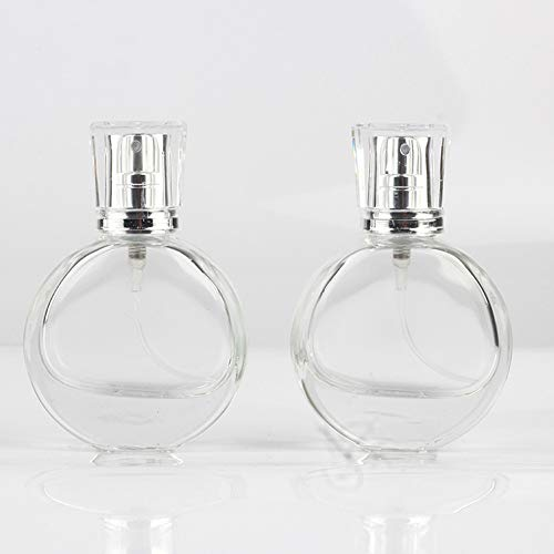 Redcolour® Flacon vaporisateur de parfum rechargeable en verre transparent mat 25 ml