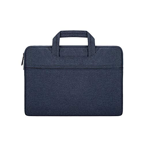 ANBF Simplicity Laptop Sleeve Handbag Protective Bag Notebook 12 13.3 14 15.6 Inch Carrying Case For Macbook Air Pro Men (Color : Navy blue, Size : 15.6-inch)