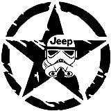 Jeep Star Wars Storm trooper - Sticker Graphic - for Window Wall Laptop Car Water Bottle Truck Sticker - Dye Cut Sticker