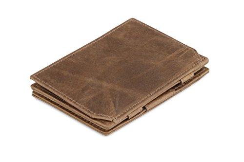 Portafoglio Garzini Magic in vera pelle sottile e minimalista da uomo con sistema di blocco RFID e portamonete