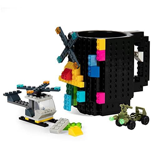 Build On Brick Mug-Fubarbar Creative Building 12oz Coffee Cup, Blocks...