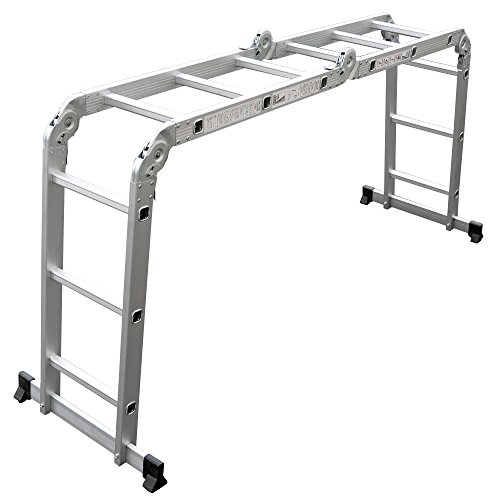 Power-on 【4サイズから選べる】 多機能はしご アルミ 軽量 折りたたみ メーカー保証付 LD-ML (3.5m)