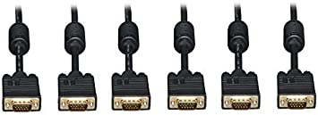 VGA Male to Female Extension Cable with Ferrites 3 Feet Black CNE466427 C/&E 10 Pack