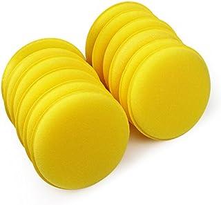 SKS Distribution® 12 Stück/Set Auto Wachs Schwamm Anti Scratch Gelb Auto Reinigungswerkzeug Autopflege