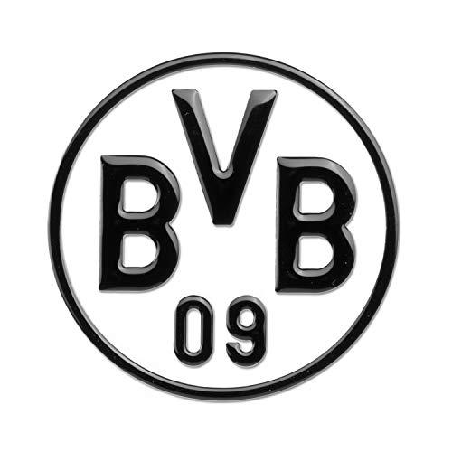 Borussia Dortmund 89140401 Adesivo per Auto, Colore Nero, Durchmesser von 8 cm