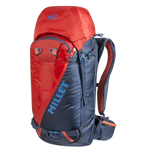 Millet Neo 35+ rugzak, skiën, wandelen, unisex volwassenen, Orion Blue/Fire, eenheidsmaat, fabrikant: eenheidsmaat