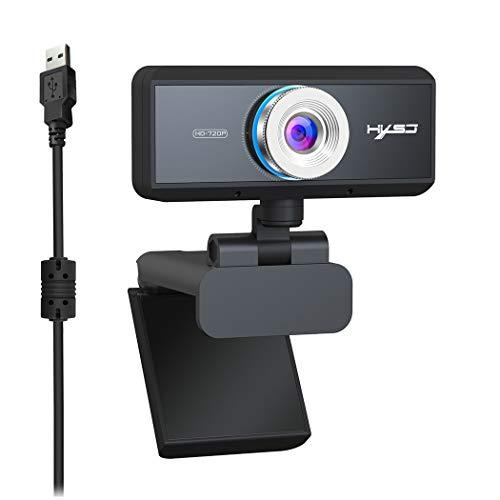 JUSTDOLIFE Cámara web de video 720P Micrófono de reducción de ruido Cámara web Cámara web USB Cámara de la computadora