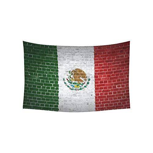 DMTWSM-Decoración para el hogar Pared de ladrillo con Tapiz de la Bandera de México Arte de Colgar en la pared-130 * 150cm(51 * 59in)
