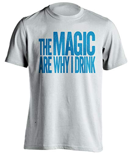 The Magic are Why I Drink – Divertida camiseta autoproclamada – Versión azul y gris – Death Ray Prints