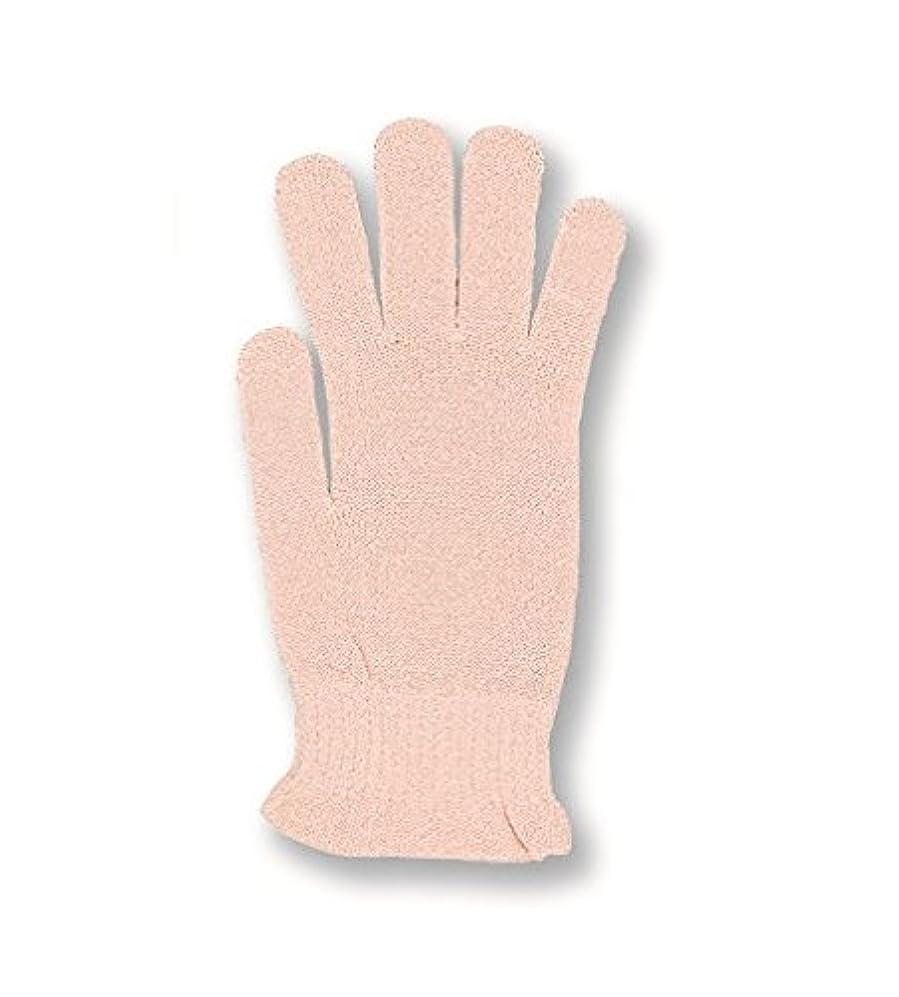 放射能セッション残酷コクーンフィット シルク おやすみ手袋 ピーチ