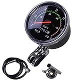 ewrw - Velocímetro para bicicleta con cable, aleación de aluminio, estilo vintage, con código mecánico, velocímetro, odómetro, cronómetro, impermeable, fácil instalación