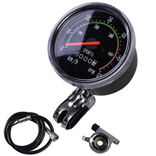 WT-DDJJK Fahrrad Stoppuhr, Fahrrad Mechanische Code Tabelle Tachometer Kilometerzähler Neutralanzeige