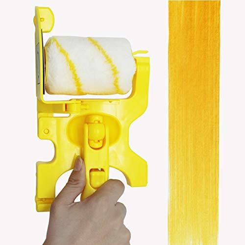 Yeelua Pincel de rodillo de pintura, multifuncional, de mano, corte limpio, cepillo de rodillo de redecilla, herramienta portátil para el hogar, oficina, habitación, techos de pared
