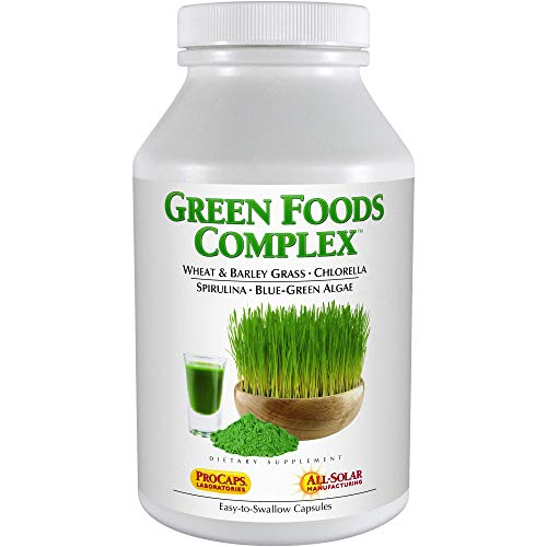 Andrew Lessman Green Foods Complex 180 Capsules – Supplies Building Blocks for Healthy Tissue Growth and Liver Support. 100 mg Each of Barley Grass, Wheat Grass, Blue Green Algae, Chlorella, Spirulina