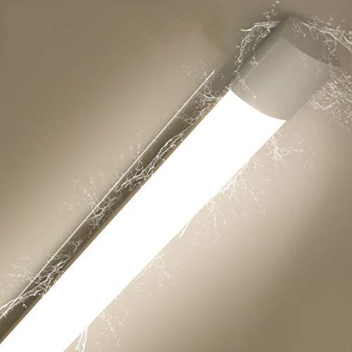 Oraymin Feuchtraumleuchte LED Deckenleuchte 120cm, 25W 2800LM IP65 Wasserdicht LED Röhre Licht 4.000K Neutralweiß Bürodeckenleuchte für Garagen Keller Bad Schlafzimmer Küche Büro
