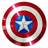 BCCDP Costume America Scudo Capitan America, Bambini Marvel Captain America Shield ABS Plastica 1: 1 da Capitan America, Adulto Taglia Unica 58cm/28 Pollici