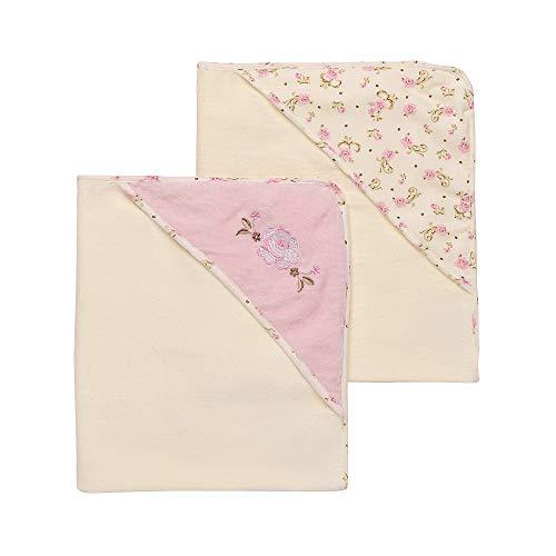 Little Me Vintage Rose 2 Pack Hooded Towel Set