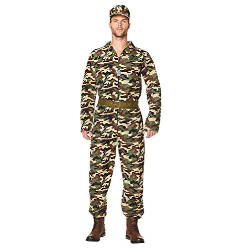 Karnival 82094 Mannelijk Leger Camo Pak Kostuum, Mannen, Multi, Medium