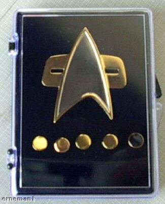 Unbekannt Voyager Star Trek Communicator Abzeichen + Rank pin Set 6 teilig Metall