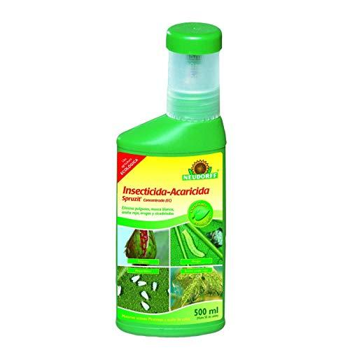 Neudorff Insecticida-Acaricida Concentrado RTU Spruzit®, JED y Agricultura Ecológica, Especial Huevos, Larvas y Adultos de Pulgones, Mosca Blanca, Araña Roja, Cochinillas (500 ml)