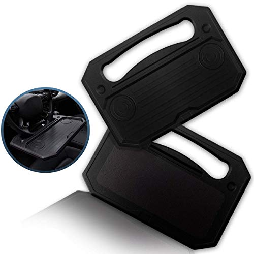 Zento Deals Car Steering Wheel Tray for Eating Desk, Portable Desk for Laptops, iPad, Notebooks, Tablets, and Food Auto Car Table, Multi-Functional Desk Accessory for Cars – Fits Most Steering Wheels