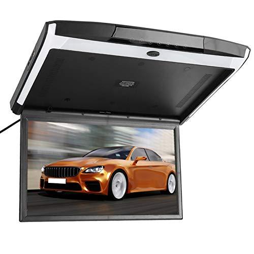 Qqmora Monitor de Techo Botón táctil de vídeo USB Monitor abatible para Coche SD FM MP5 Altavoz