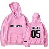 WAWNI Enhypen NI-KI 05 - Sudadera con capucha y logotipo unisex