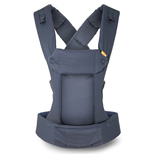 Beco Gemini Baby Carrier - Grey, Sleek and Simple 4-in-1 All Position Backpack Style Sling for Holding Babies, Infants and Child from 7-35 lbs Certified Ergonomic