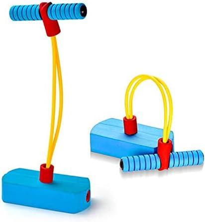 deAO Pogo Saltarín Tubo de Tensión de Salto para Actividades Infantiles y Familiares Cuerda Elástica, Base de Gomaespuma con Sonido de Brinco – Regalo Original