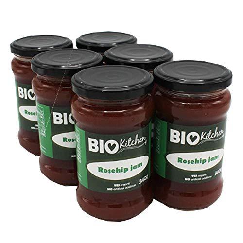 BioKitchen - Mermelada de rosa mosqueta ecológica (6 envases de 340 g)