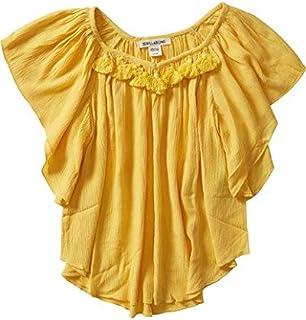 BILLABONG Girls G504MHIG High Above Top Short Sleeve Blouse - Yellow