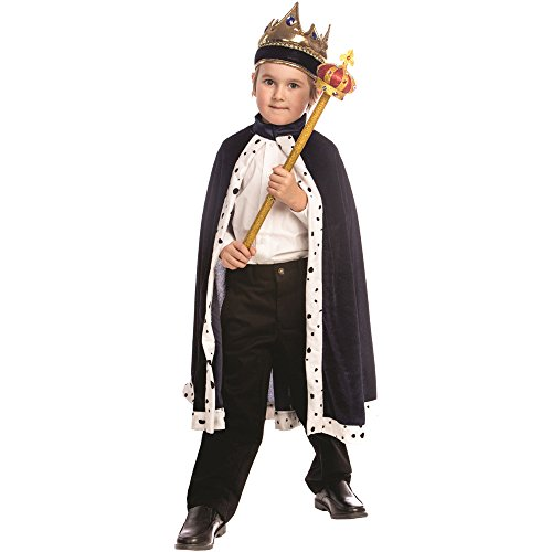 Dress-Up-America King Crown and Robe - King Costume for Kids - One Size Fits Most