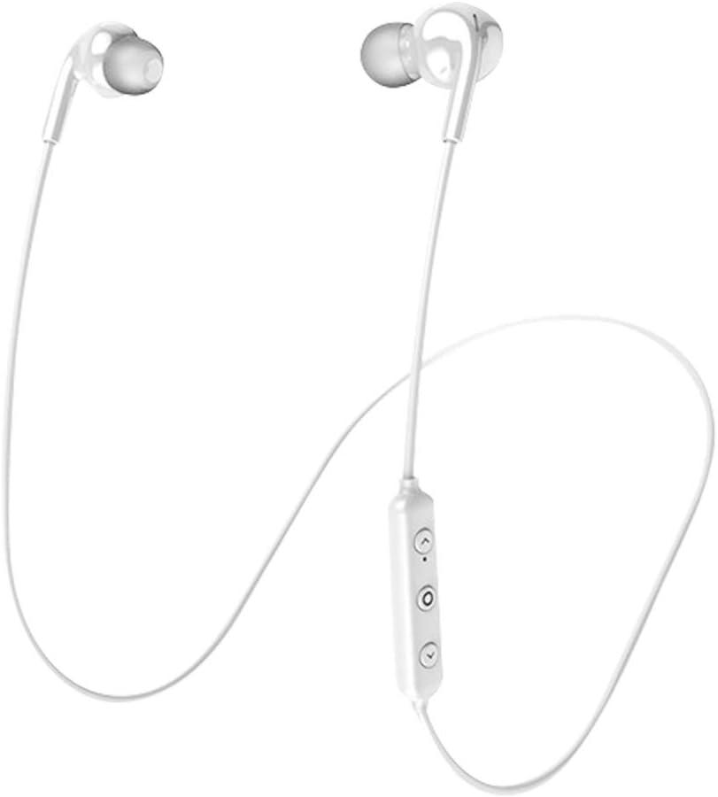 Abafia Bluetooth 5.0 Auriculares Deportivos, IPX7 Impermeables Auriculares, Auriculares Deportivos Sonido Estéreo HD Anti-Ruido 10 H Tiempo de Juego para Jogging/Senderismo/Oficina (Blanco)